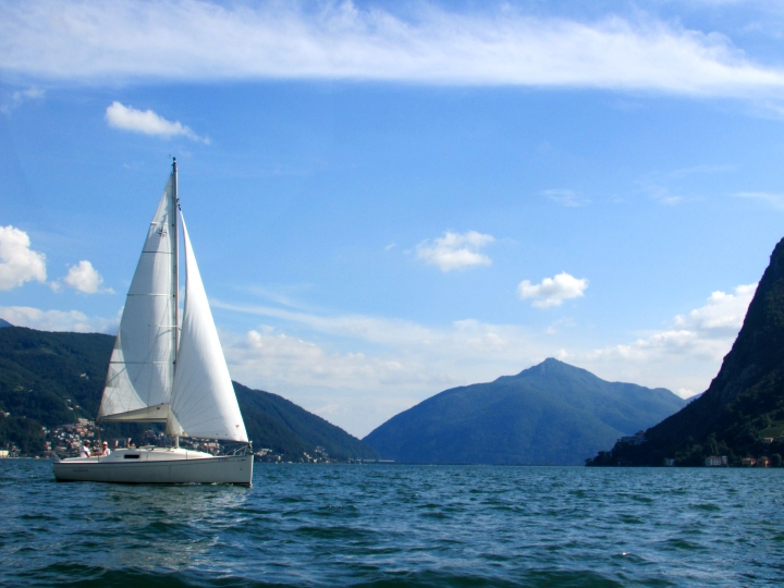 Lago di Lugano- Paridiso, Lugano, Switzerland
