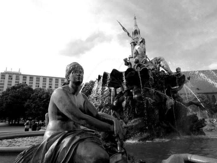 Neptunbrunnen (The Neptune Fountain), Berlin, Germany - May 2014
