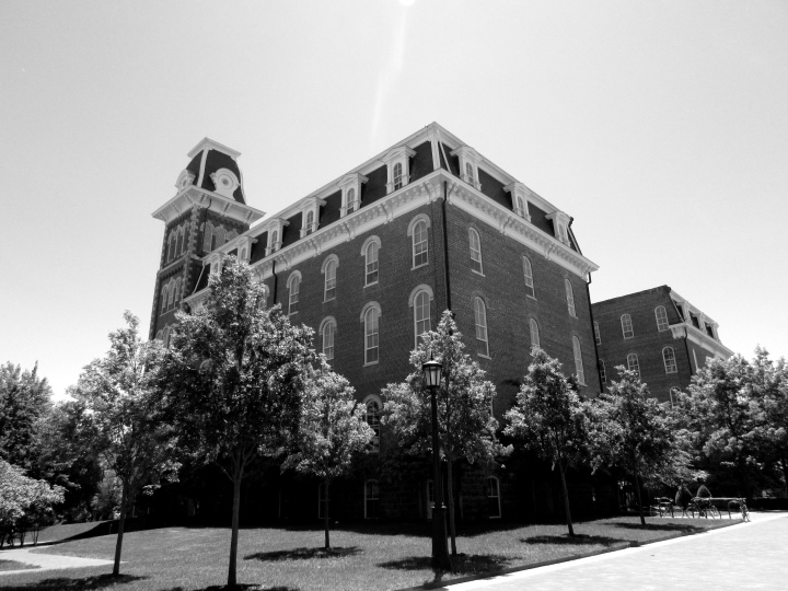 Old Main at the University of Arkansas, Fayetteville, Arkansas - May 2015