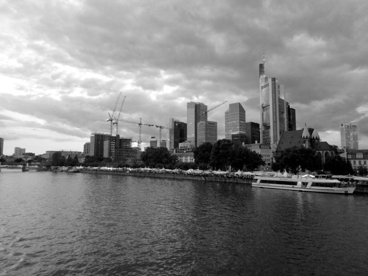 Frankfurt skyline- Frankfurt, Germany, August 2014